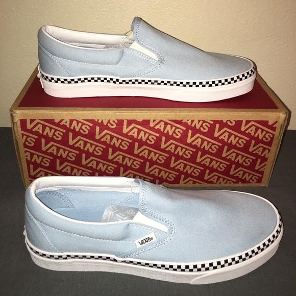 Vans Classic Slip On Cool Blue Check
